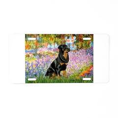 Garden / Rottweiler Aluminum License Plate