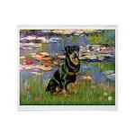Lilies2/Rottweiler Throw Blanket