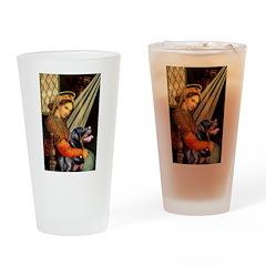 Madonna/Rottweiler Drinking Glass