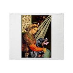Madonna/Rottweiler Throw Blanket