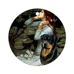 Ophelia/Rottweiler Ornament (Round)