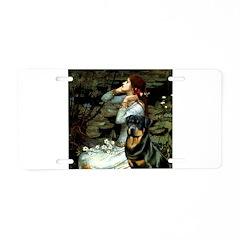 Ophelia/Rottweiler Aluminum License Plate