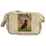 Spring / Rottweiler Messenger Bag