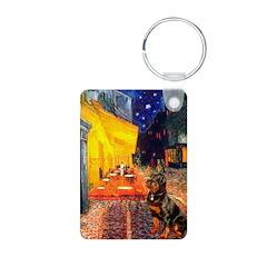 Cafe & Rottweiler Keychains