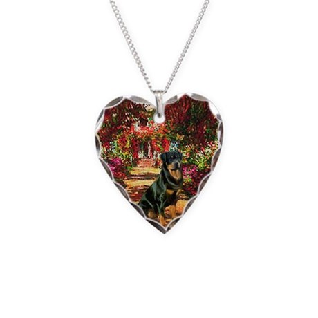 The Path / Rottie Necklace Heart Charm