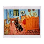 Room / Rottweiler Throw Blanket