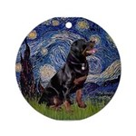 Starry/Rottweiler (#6) Ornament (Round)