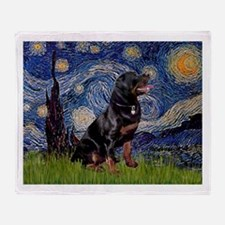 Starry/Rottweiler (#6) Throw Blanket