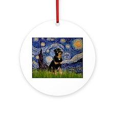 Starry Night Rottweiler Ornament (Round)