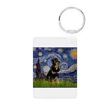 Starry Night Rottweiler Keychains