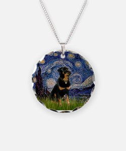 Starry Night Rottweiler Necklace