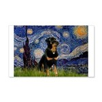 Starry Night Rottweiler 20x12 Wall Decal