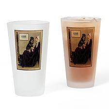 Mom's Rottweiler Drinking Glass
