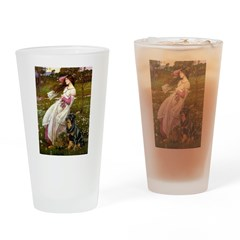 Windflowers / Rottweiler Drinking Glass