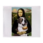 Mona / Saint Bernard Throw Blanket