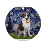 Starry / Saint Bernard Ornament (Round)