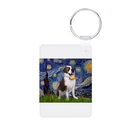 Starry / Saint Bernard Aluminum Photo Keychain