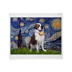 Starry / Saint Bernard Throw Blanket