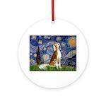 Starry Night / Saluki Ornament (Round)