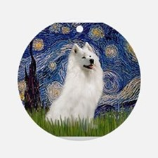 Starry / Samoyed Ornament (Round)