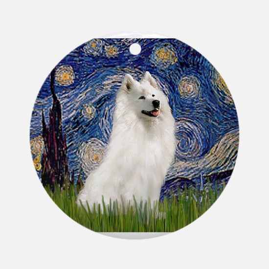 Starry / Samoyed Ornament (Round)