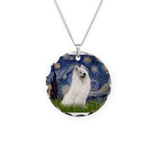 Starry / Samoyed Necklace