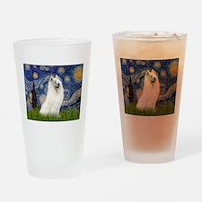 Starry / Samoyed Drinking Glass