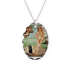 Venus / Schipperke #5 Necklace Oval Charm