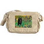 Irises / Schipperke #2 Messenger Bag
