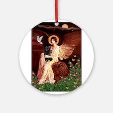 Angel (#1) & Schipperke Ornament (Round)