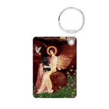 Angel (#1) & Schipperke Aluminum Photo Keychain