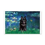 Lilies / Schipperke #4 20x12 Wall Decal
