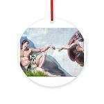Creation / Schnauzer (#8) Ornament (Round)