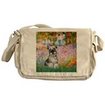 Garden / Miniature Schnauzer Messenger Bag