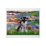 Lilies (#2)/Schnauzer Pup Throw Blanket