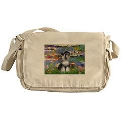 Lilies / Schnauzer Messenger Bag