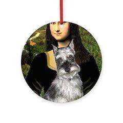 Mona Lisa's Schnauzer (#1) Ornament (Round)