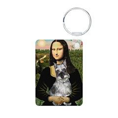 Mona Lisa's Schnauzer (#1) Keychains