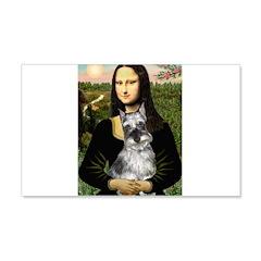Mona Lisa's Schnauzer (#1) 20x12 Wall Decal