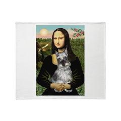 Mona Lisa's Schnauzer (#1) Throw Blanket
