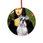 Mona Lisa/Schnauzer (#2) Ornament (Round)