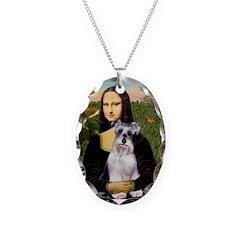Mona Lisa/Schnauzer (#2) Necklace Oval Charm