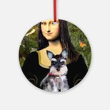 Mona Lisa's Schnauzer Puppy Ornament (Round)