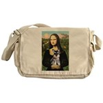 Mona Lisa's Schnauzer Puppy Messenger Bag