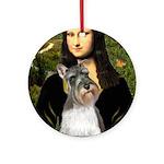 Mona / M Schnauzer Ornament (Round)