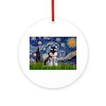 Starry / Schnauzer Ornament (Round)