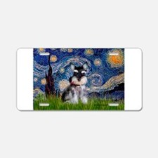 Starry / Schnauzer Aluminum License Plate