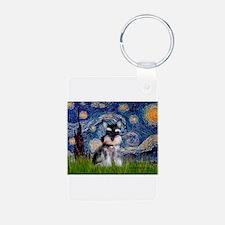 Starry / Schnauzer Keychains
