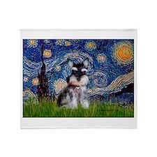 Starry / Schnauzer Throw Blanket