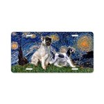 Starry Night / Min Schnauzer Aluminum License Plat